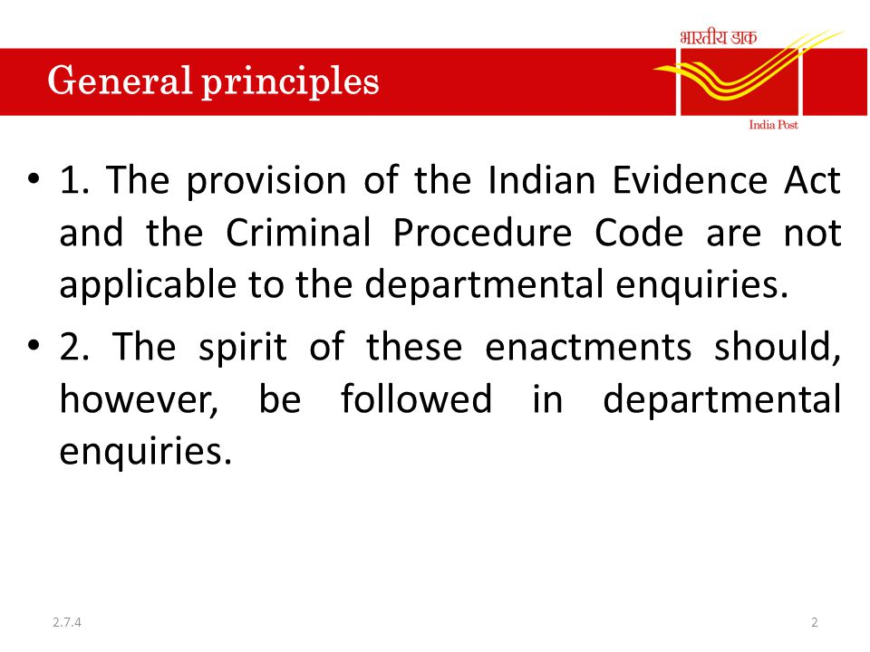 General principles 1.