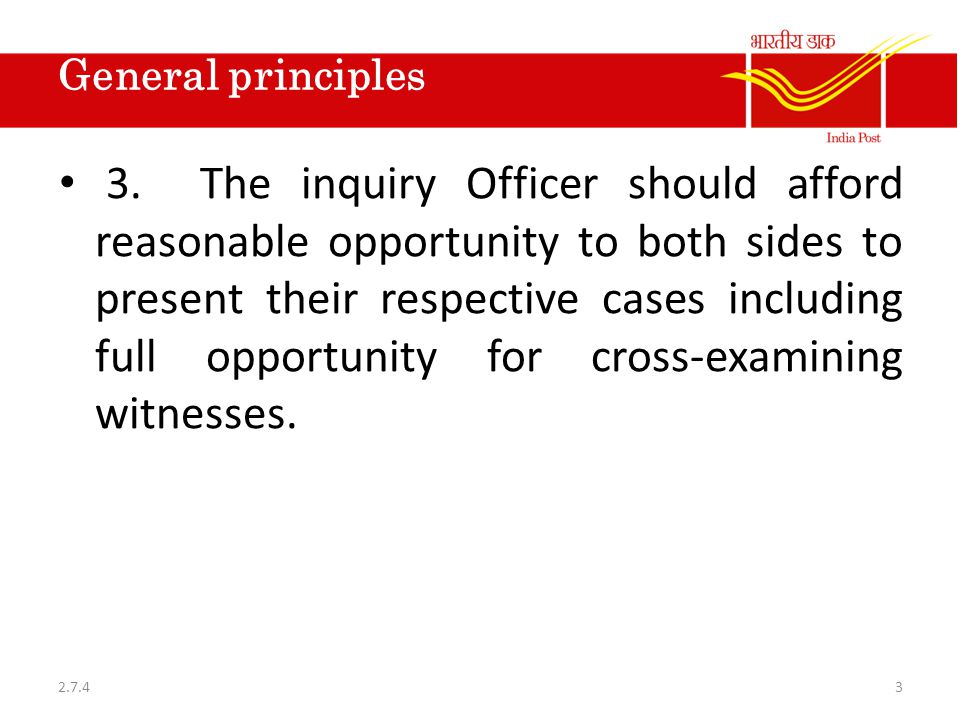 Report of the Inquiry Officer 4.