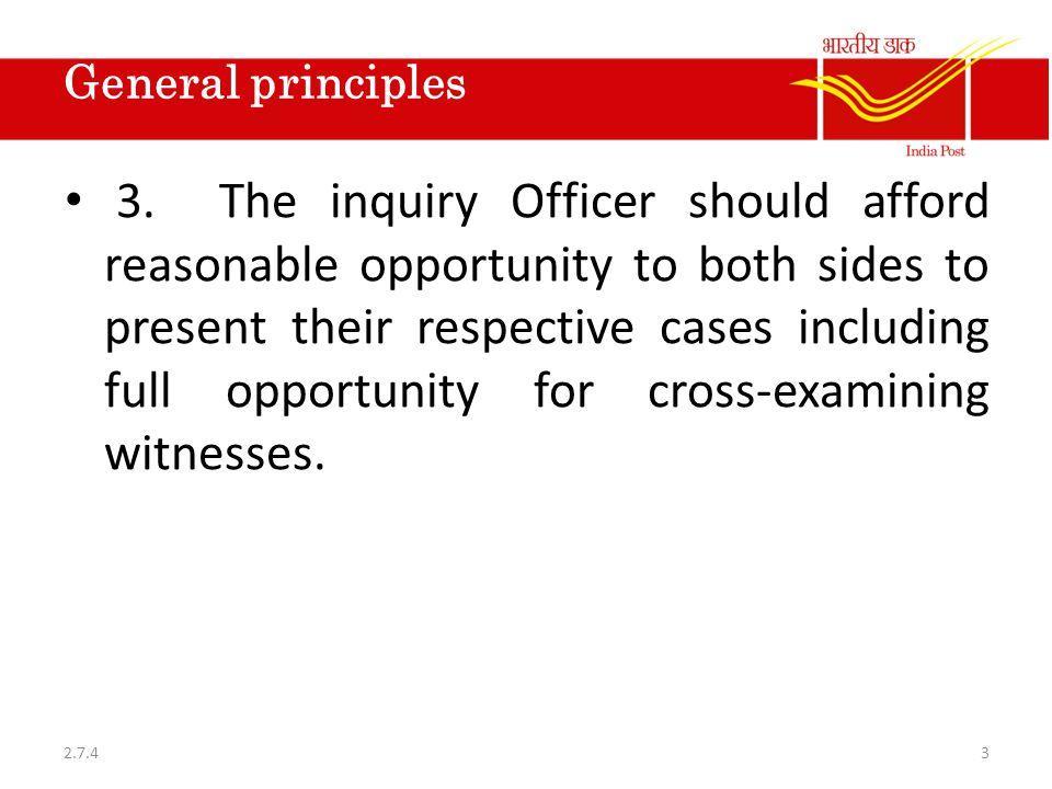 General principles 3.