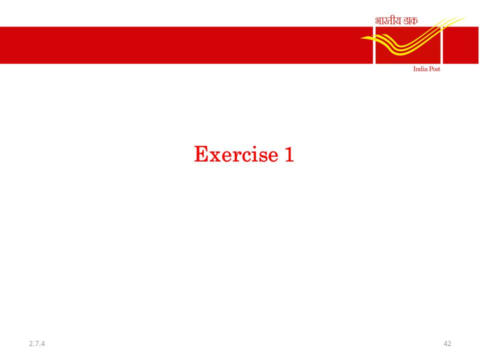 Exercise 1 422.7.4