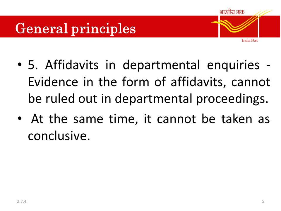 General principles 5.