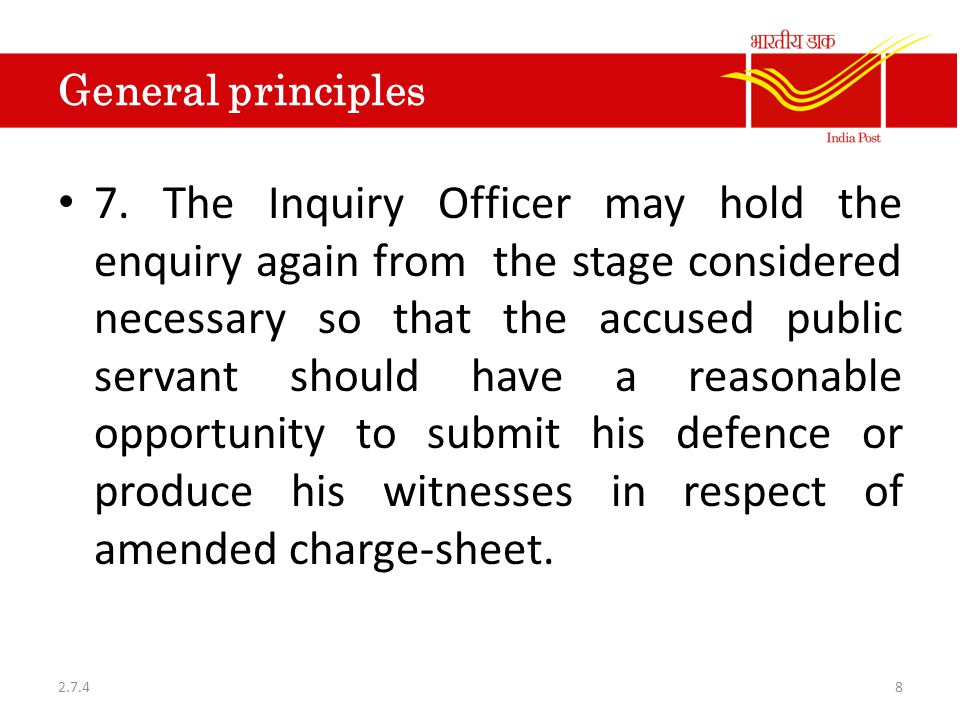 General principles 8.