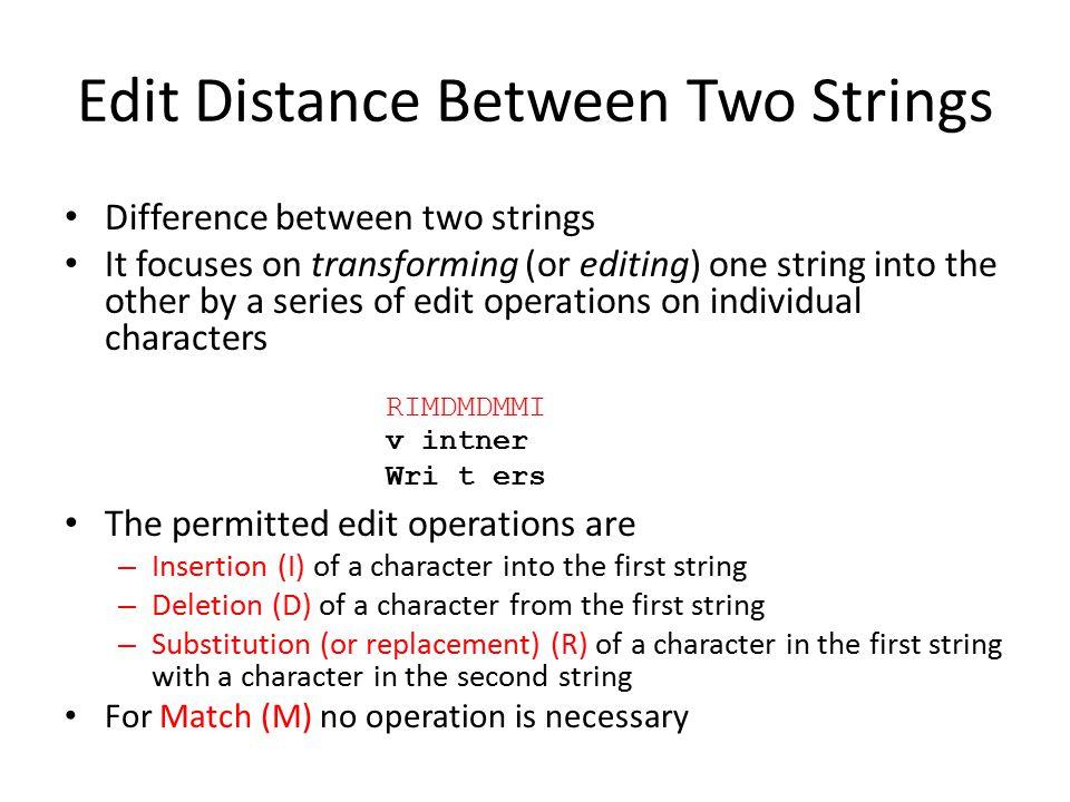 Edit Transcript vs.