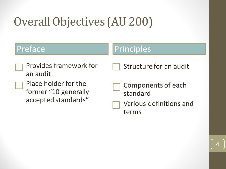 Opening Balances—Initial Audit Engagements (AU 510) Obtain sufficient appropriate evidence about whether beginning balances contain material misstatements Reviewing predecessor auditor helps determine auditor scope, but is not sole basis for sufficient appropriate evidence 15 1.Whether prior period closing balances brought forward correctly 2.