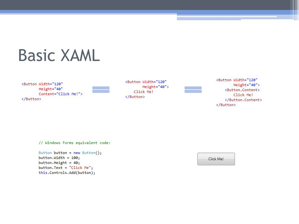 Basic XAML