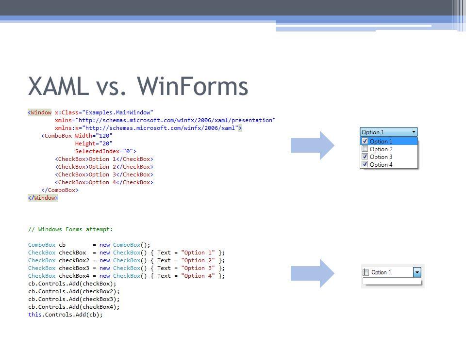 XAML vs. WinForms