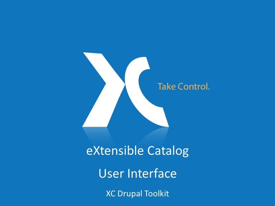 eXtensible Catalog User Interface XC Drupal Toolkit