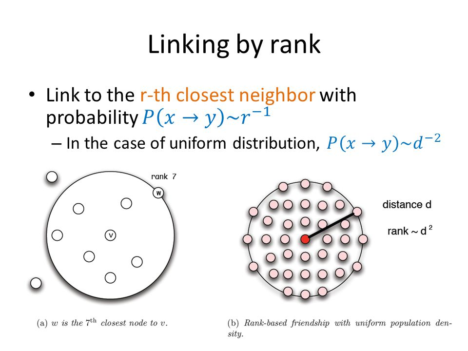 Linking by rank