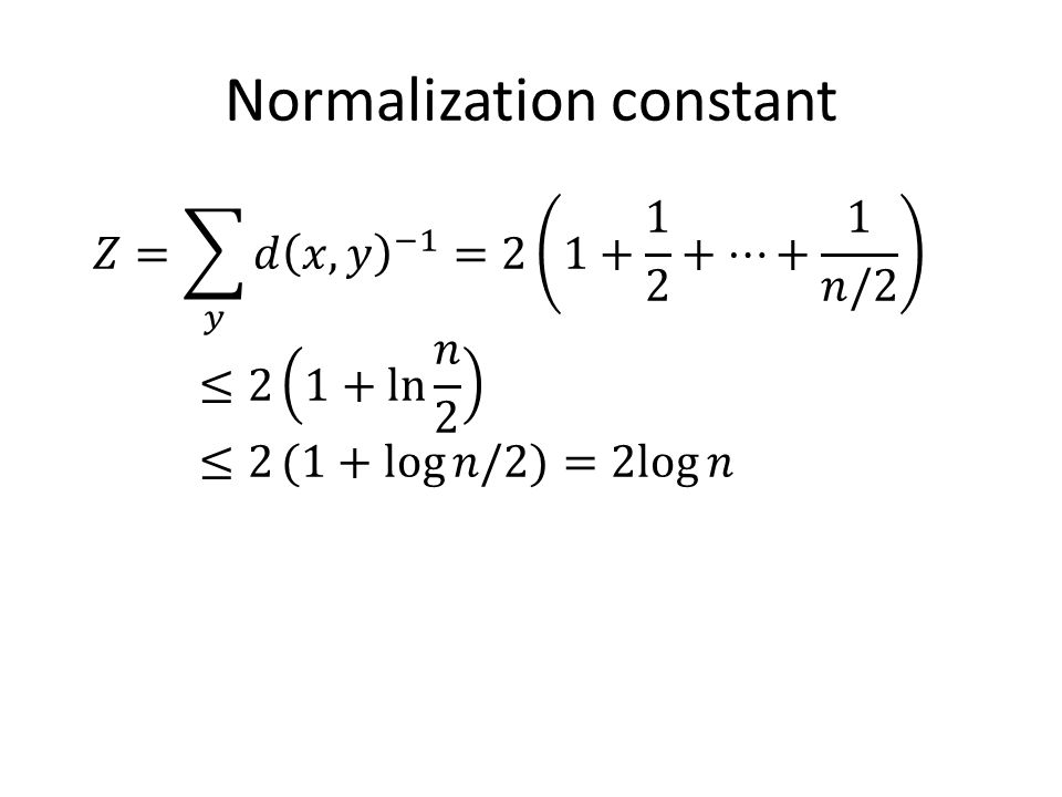 Normalization constant