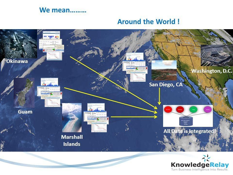 Around the World . Okinawa Guam Marshall Islands San Diego, CA Washington, D.C.