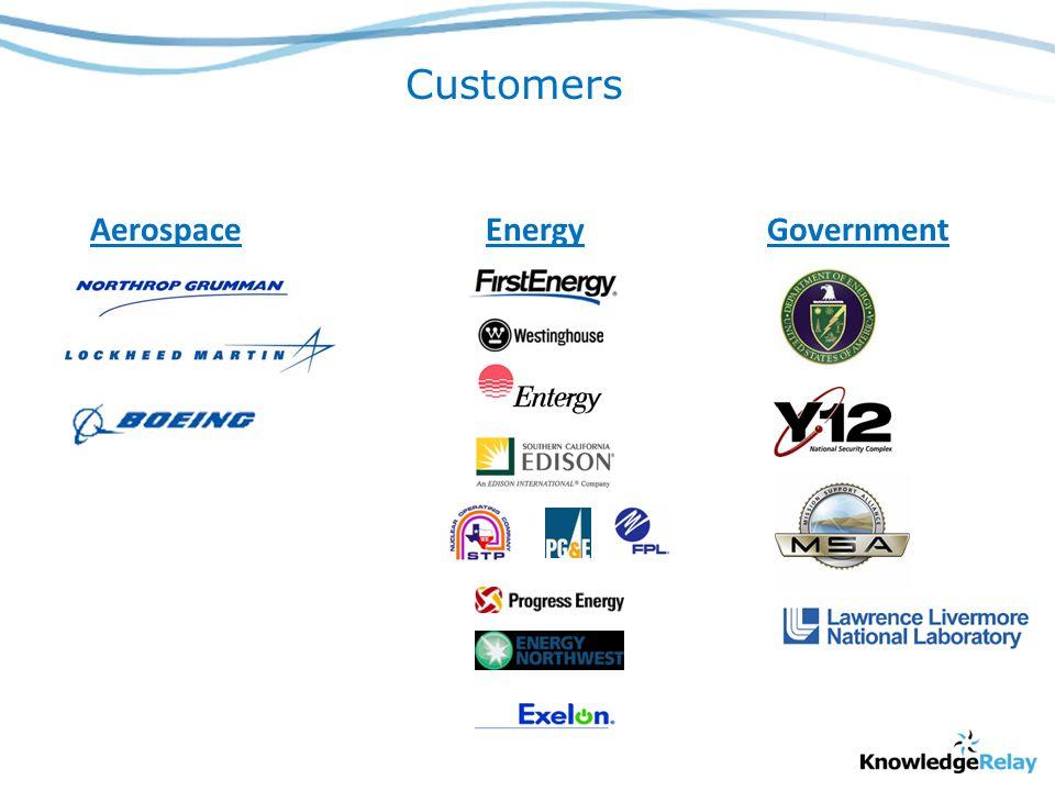 Customers EnergyGovernmentAerospace