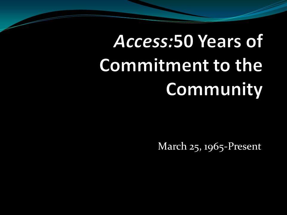 March 25, 1965-Present