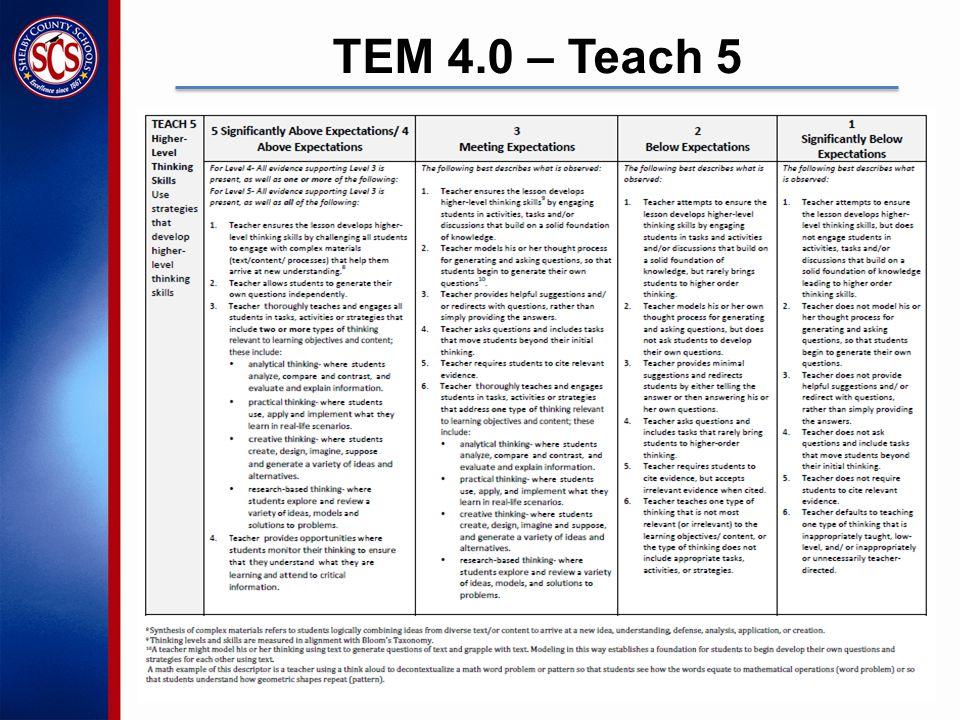 TEM 4.0 – Teach 5