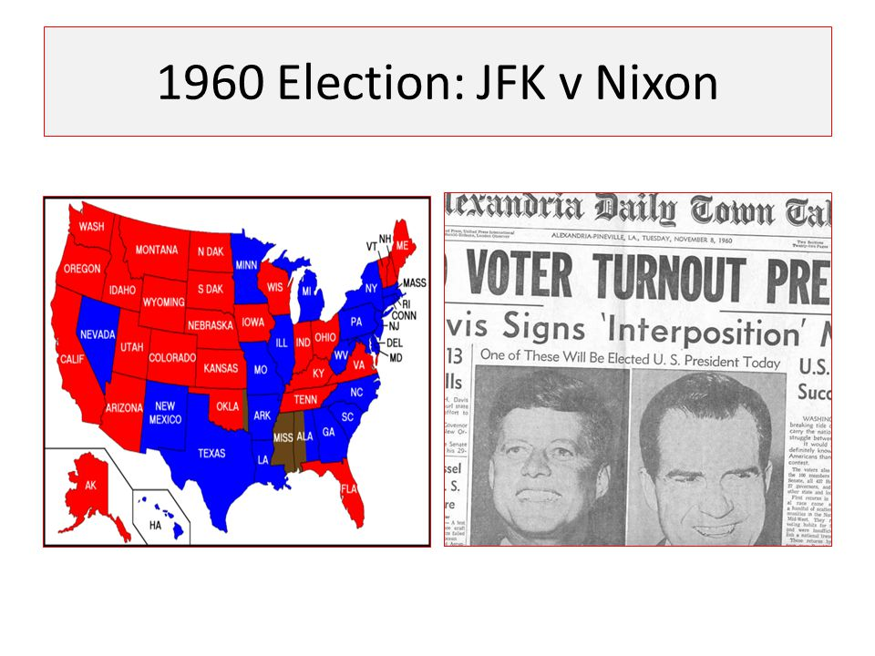 1960 Election: JFK v Nixon