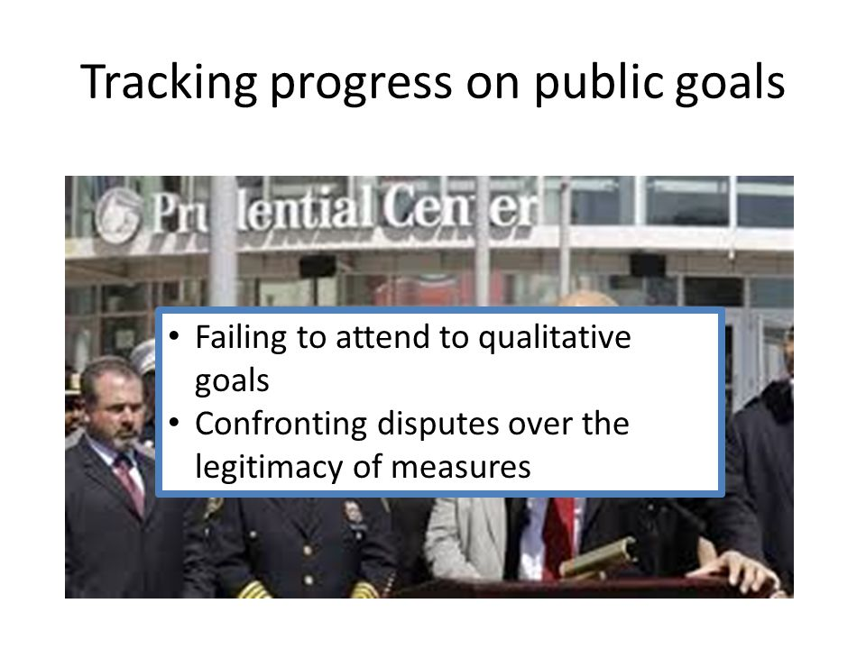 Failing to attend to qualitative goals Confronting disputes over the legitimacy of measures