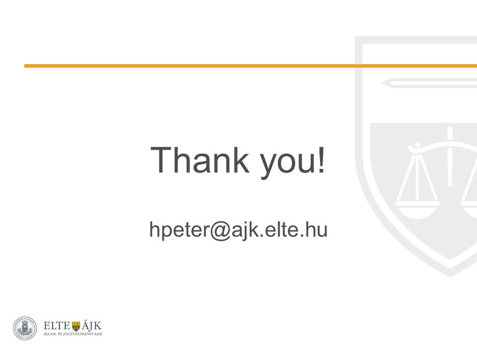 Thank you! hpeter@ajk.elte.hu