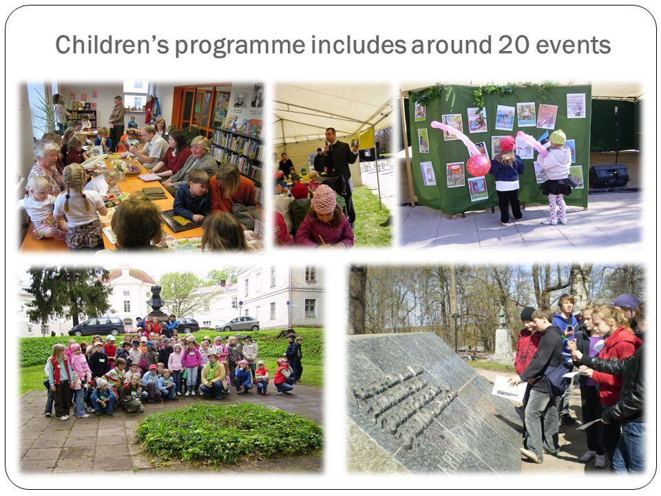 Children's programme includes around 20 events