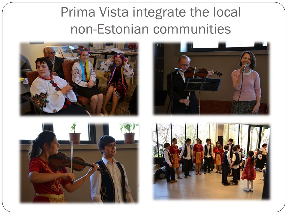 Prima Vista integrate the local non-Estonian communities