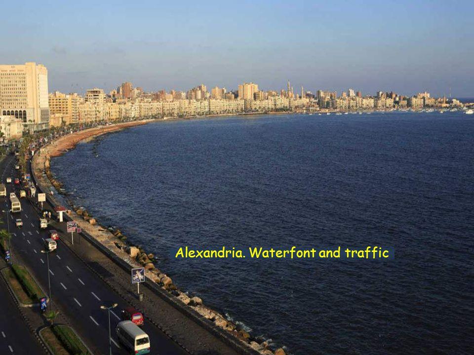 Alexandria, original harbour panorama Alexandria, Library panorama