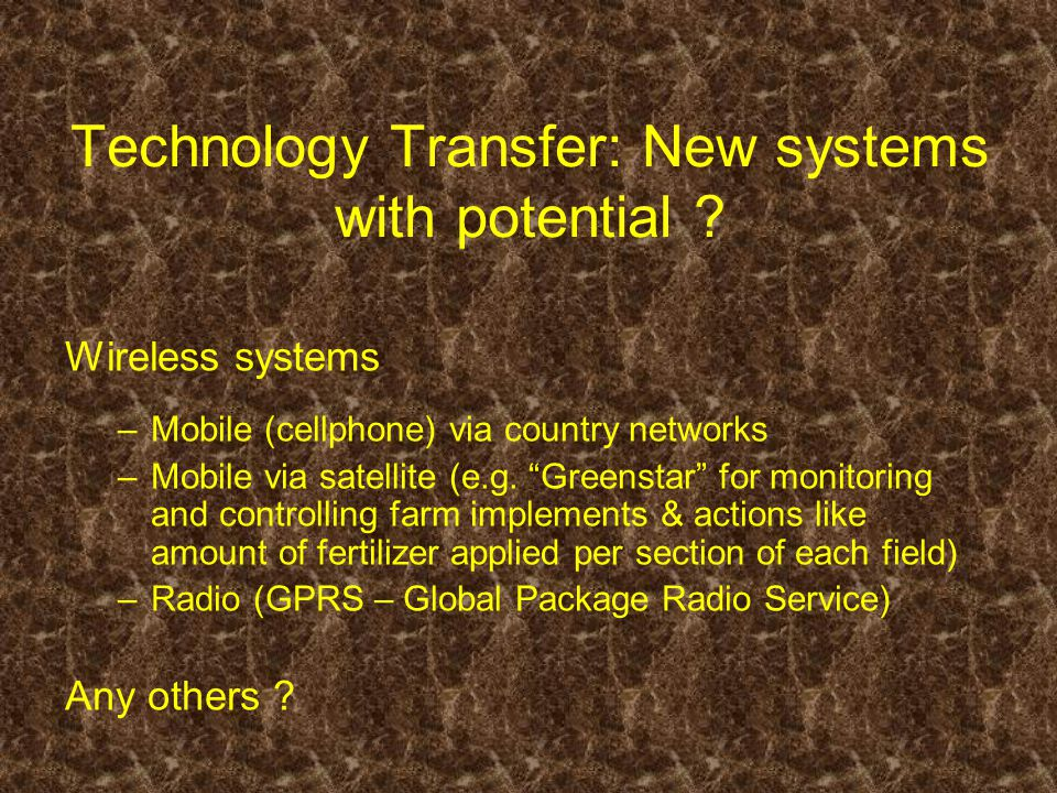 Technology Transfer: New systems with potential .