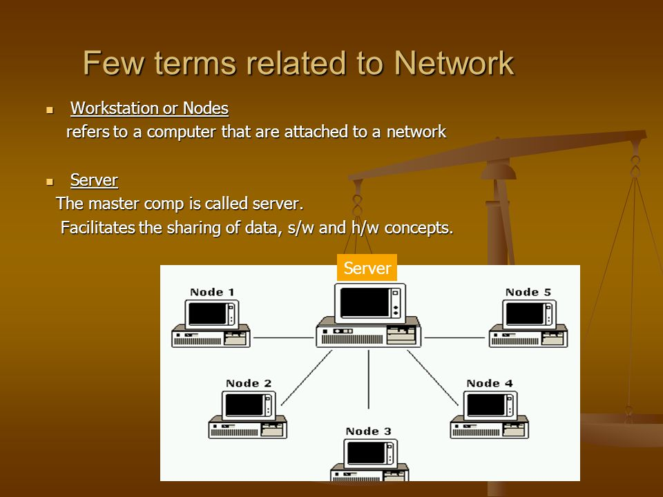 Few terms related to Network Workstation or Nodes Workstation or Nodes refers to a computer that are attached to a network refers to a computer that a