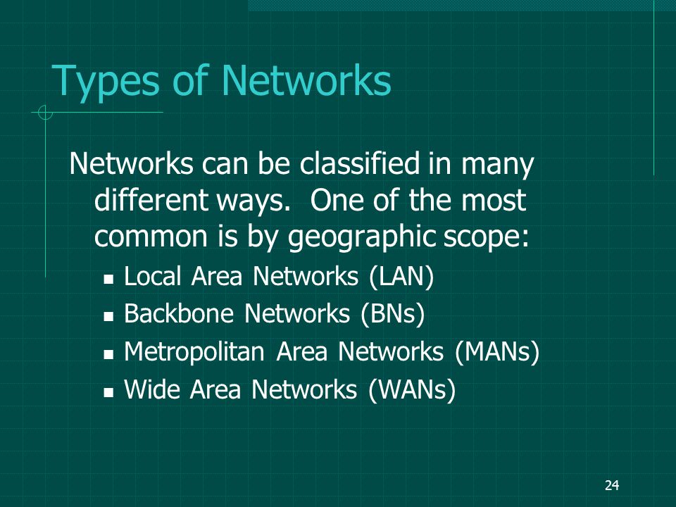 23 Components of a Network