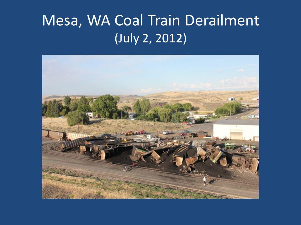 Mesa, WA Coal Train Derailment (July 2, 2012)