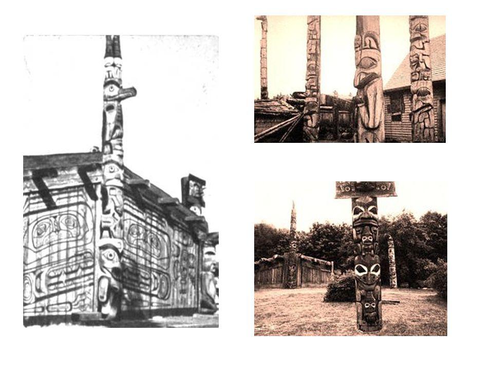 Northwest coast art Northwest coast people built large totem poles carved from wood