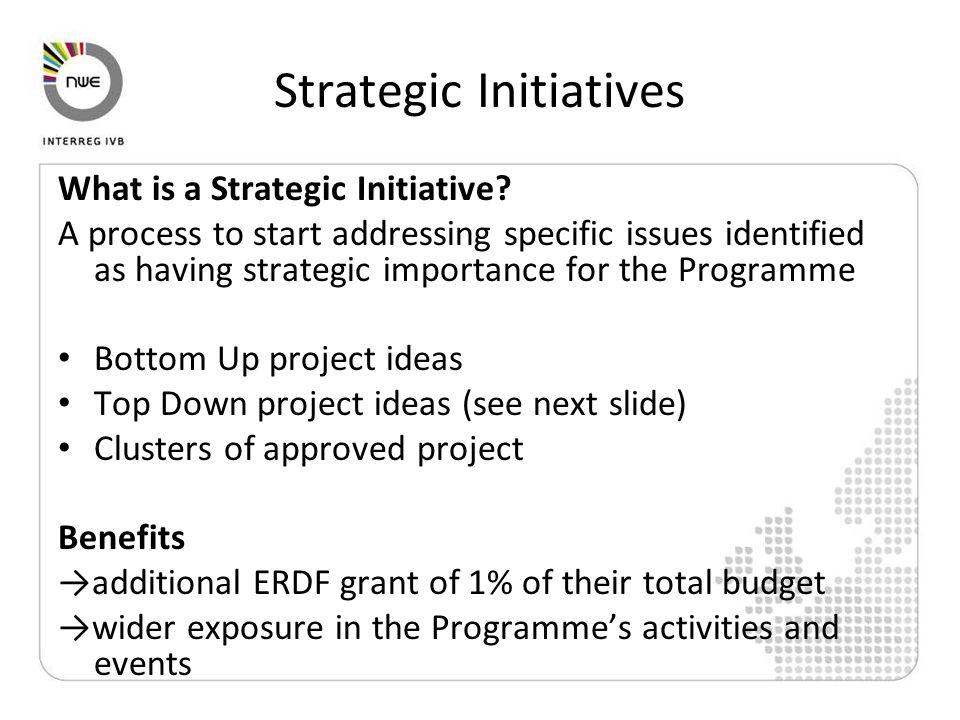 Strategic Initiatives What is a Strategic Initiative.