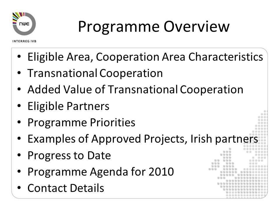 ECCE INNOVATION Lead Partner: Nantes Métropole (FR) Irish Partner: Dublin City Council Sub-Partners: Dublin City Enterprise Board 8 partners from FR, IE, DE, UK, NL Budget €3.85m (50% funded)Priority 1.1 http://www.ecce-innovation.eu/ Developing economic clusters of cultural and creative enterprises in the innovation process The aim of the Project is to foster the innovation capacity of Creative Industries (CI) in order to access new markets .