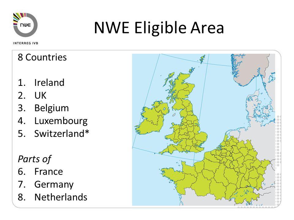 Cooperation Area Characteristics 845,000 km² 21% of the EU territory 180m inhabitants 39.5% of EU population 307 inhabitants per km² 75% of the population lives in densely populated urban areas