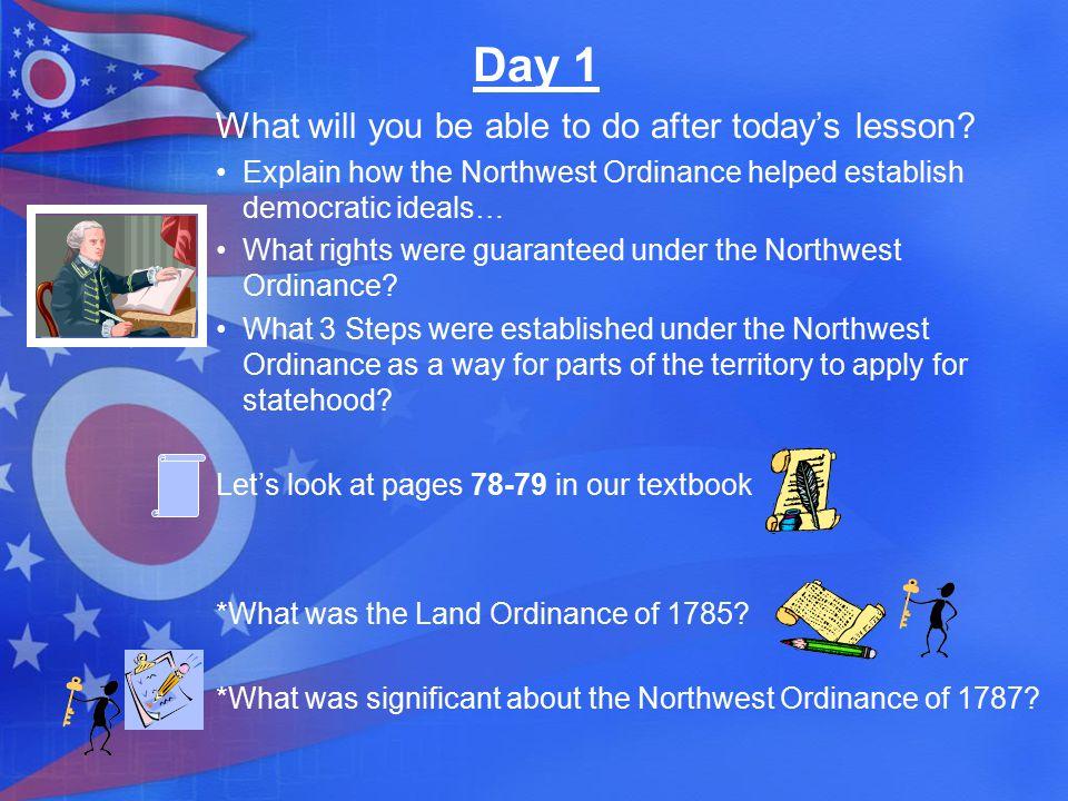 1700 1800 1785: Land Ordinance of 1785 1787: Northwest Ordinance of 1787 1790: Harmar's Defeat 1791: St.