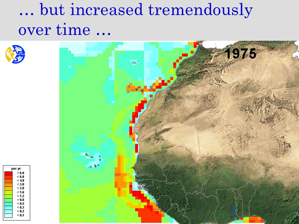 … but increased tremendously over time …