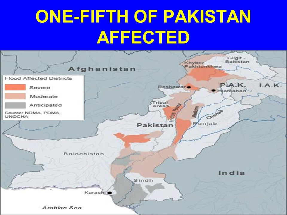 ONE-FIFTH OF PAKISTAN AFFECTED