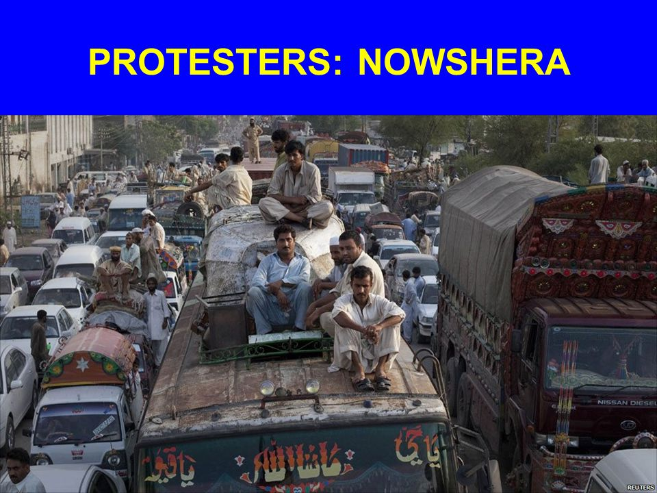 PROTESTERS: NOWSHERA