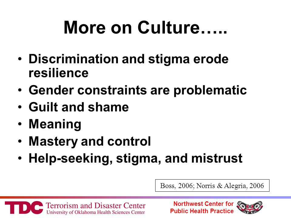 Northwest Center for Public Health Practice More on Culture…..