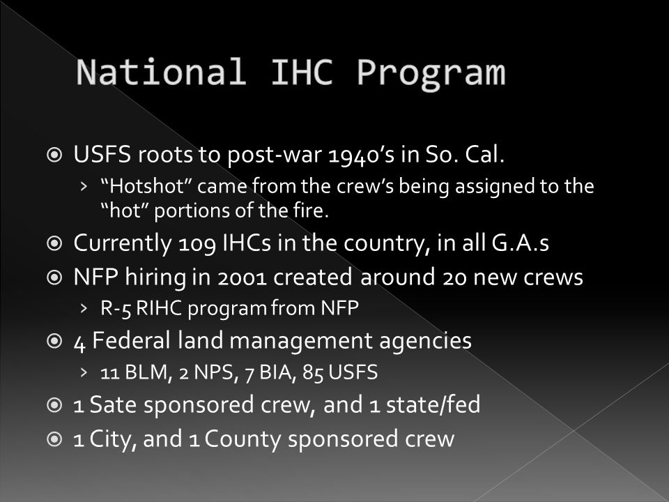  National IHC Steering Committee › NIHCSC chartered under the assoc.