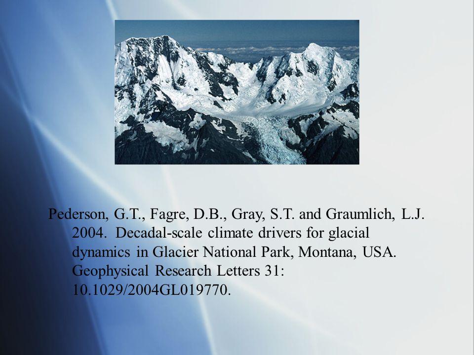Pederson, G.T., Fagre, D.B., Gray, S.T. and Graumlich, L.J.