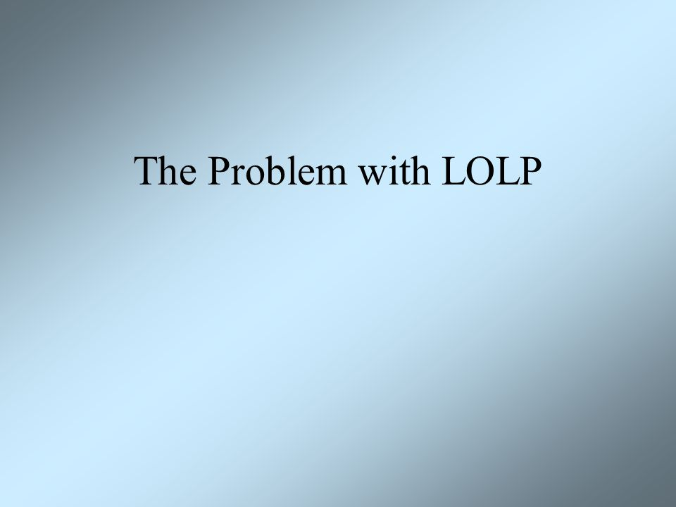 The Problem with LOLP