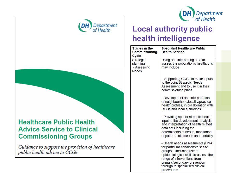 Local authority public health intelligence