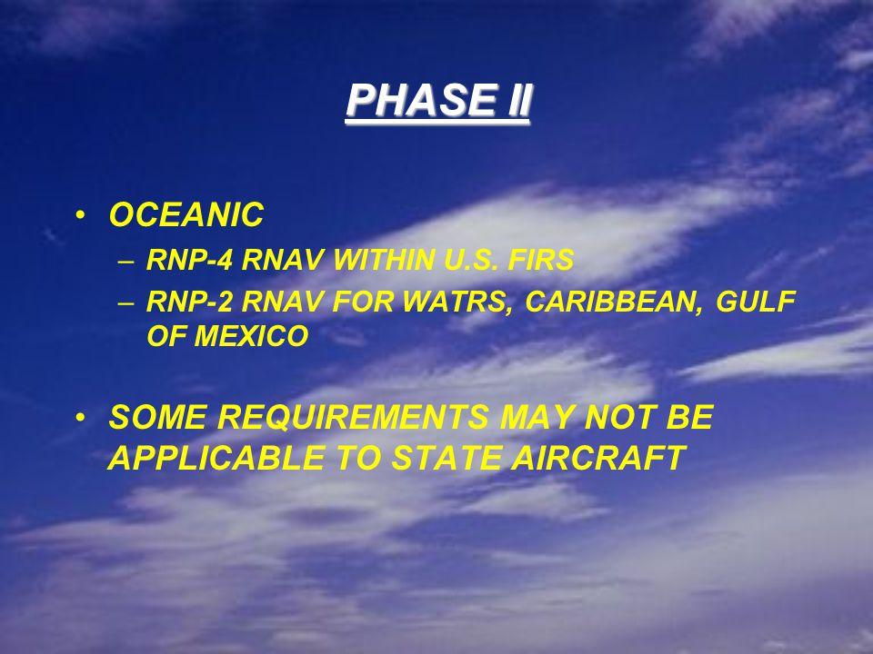PHASE II OCEANIC –RNP-4 RNAV WITHIN U.S.