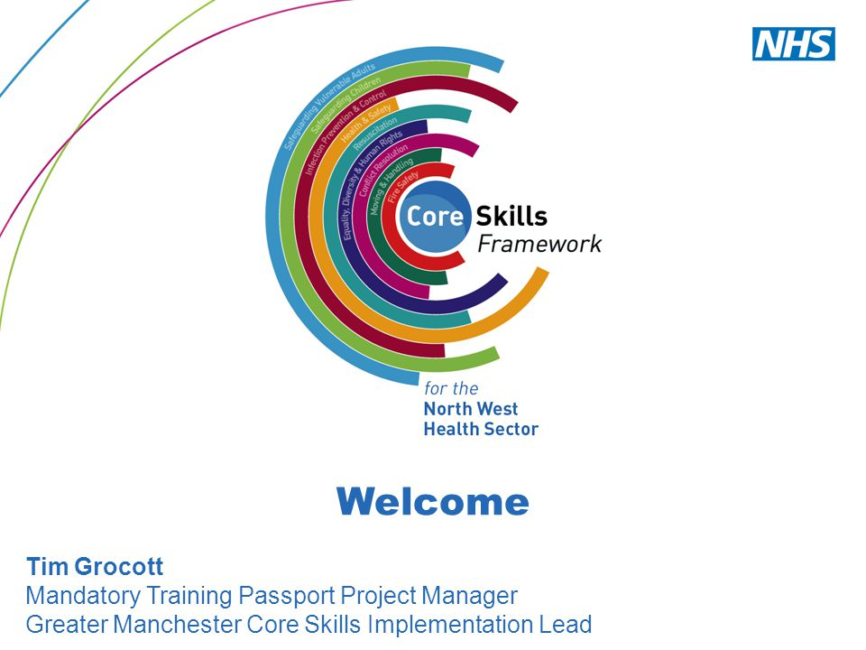 Welcome Tim Grocott Mandatory Training Passport Project Manager Greater Manchester Core Skills Implementation Lead