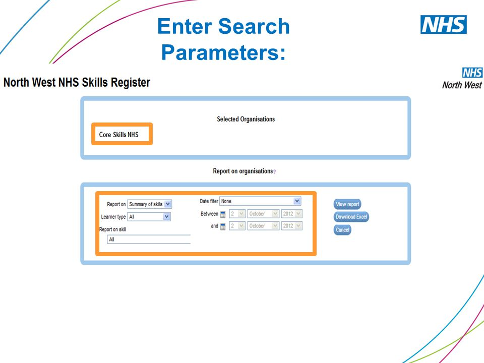 Enter Search Parameters: