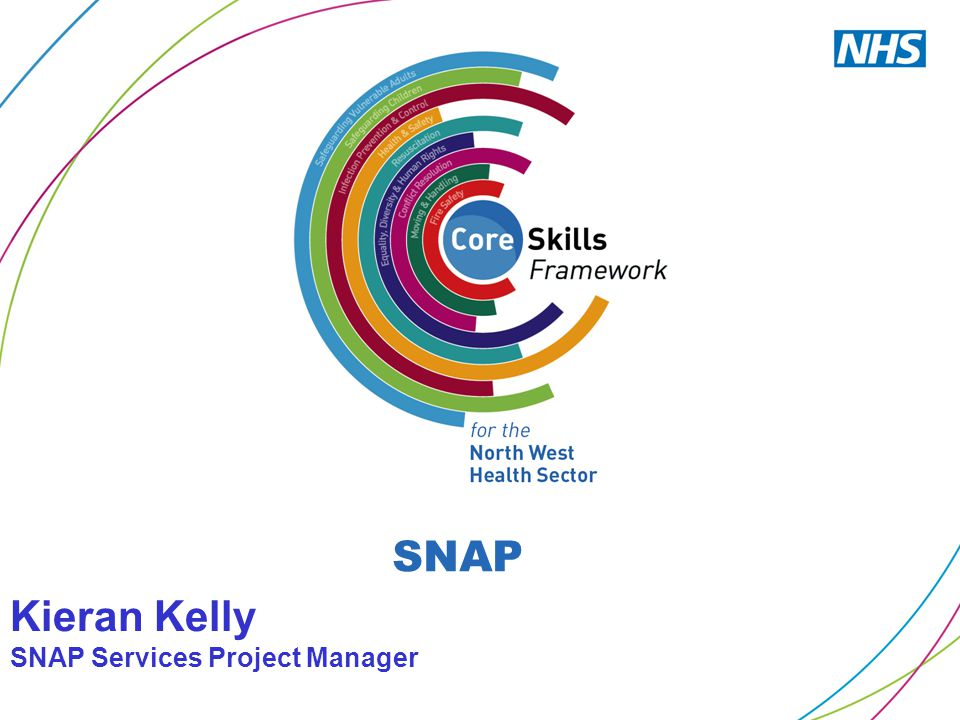 Kieran Kelly SNAP Services Project Manager SNAP