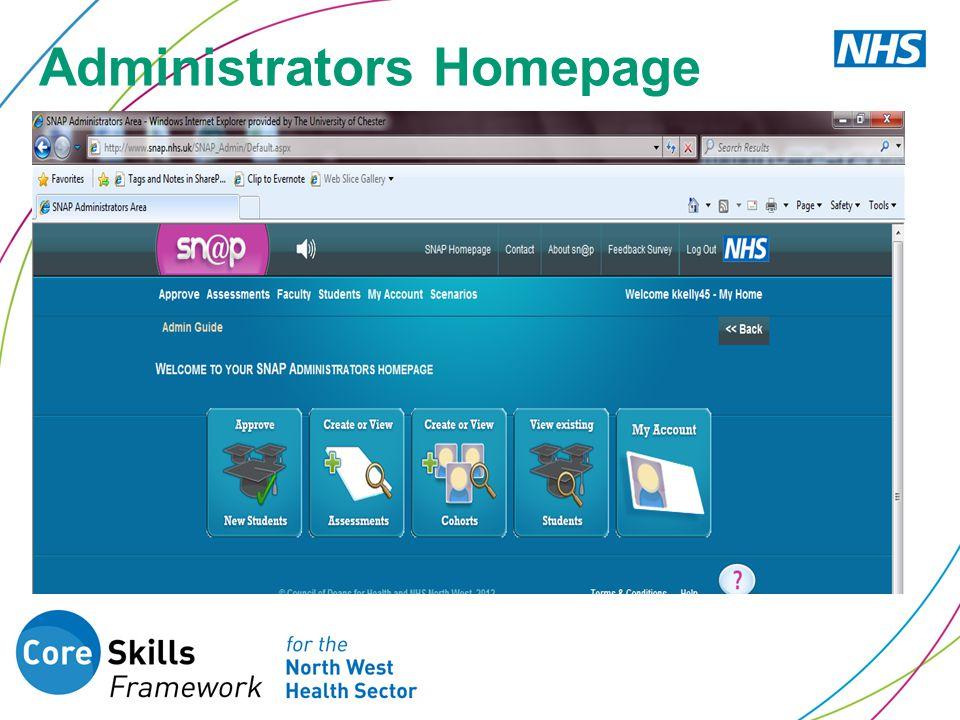 Administrators Homepage