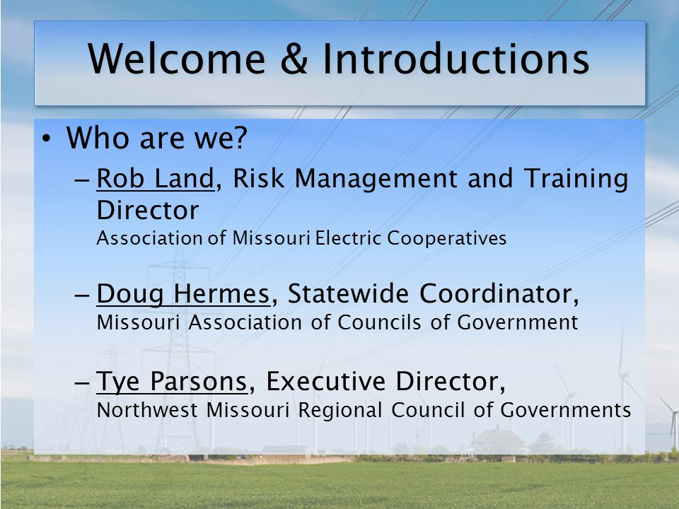 Structure and Process Each Cooperative has been assigned an RPC to complete your chapter