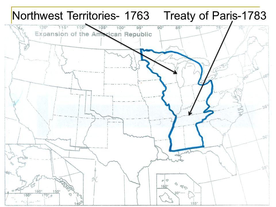 Northwest Territories Treaty of Paris Original 13 colonies