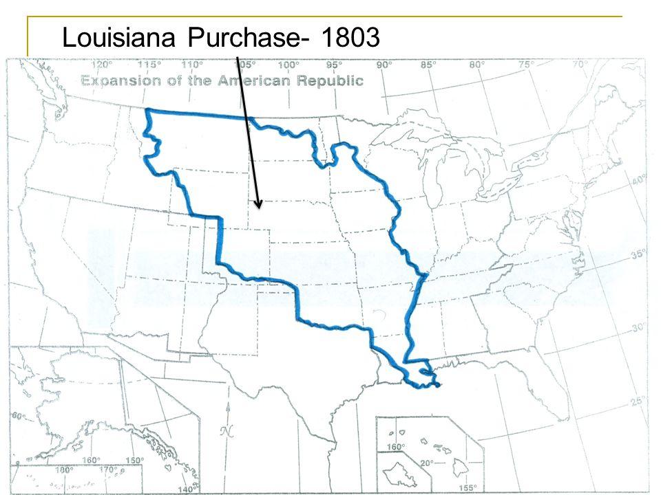 Louisiana Purchase Treaty of Paris Northwest Territories Original 13 colonies