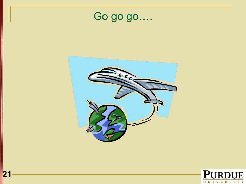21 Go go go….