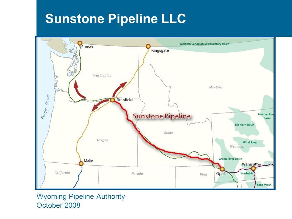 Wyoming Pipeline Authority October 2008 Sunstone Pipeline LLC